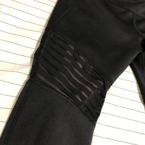 Avia Black athletic pants with sheer stripes